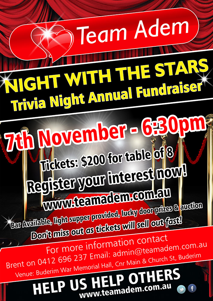 Team Adem Leukaemia Foundation Trivia night