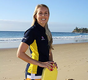 Jess Simpson Summer Surf Girl entrant Dicky Beach Surf Lifesaving Club
